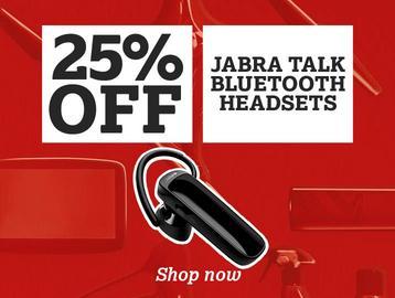 25% off Jabra Talk Bluetooth Headset